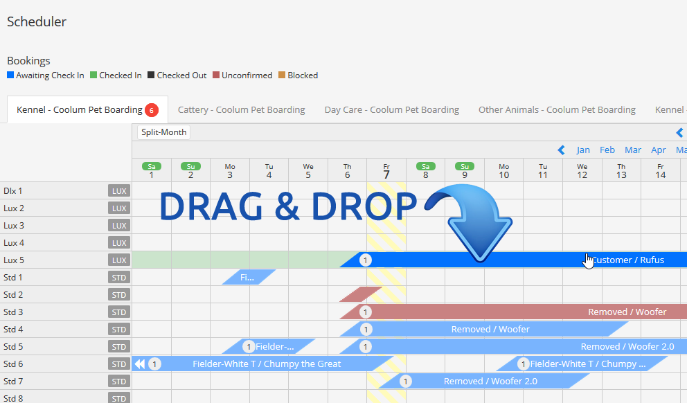 Drag and Drop on Scheduler
